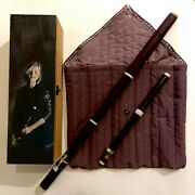 Wooden Case For Baroque/irish Flute With Padded Inner Bag -cases Only-