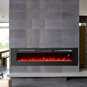 70 Wide Electric Fireplace Wall Mounted /insert Heater Multi-color Flame Remote