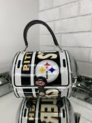 Nwt Little Earth Pittsburgh Steelers Football Metal License Plate Purse Clutch