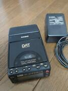 Used Casio Dat Portable Player And Recorder Da-r100 With Unused Dat Tape Rare