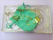 Annette Funicello Personal Property Cut Glass Jewelry Tray + Jewerly Items