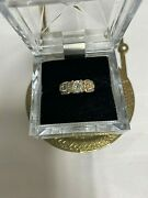 Antique Over 100 Old .45 Diamond Ring In 14 K Yellow Gold