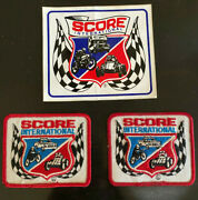 Vintage 1980s Score International Off Road Racing Patches And Decal
