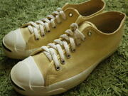 Vintage Converse Jack Purcell 8h Canvas Lemon Yellow Shoes From Us Rare