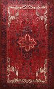 Vintage Geometric Traditional Area Rug Wool Hand-knotted Oriental Carpet 9x13