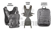 Mission Critical Front Baby Carrier And Daypack Carrier + Ext. Liner Gray Grey New