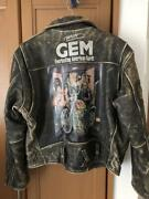 Harley Davidson Originally Painted Leather Riders Jacket Size M Color Black Used