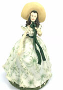 San Francisco Music Box Co - Scarlett Oand039hara In Picnic Dress Gone With The Wind