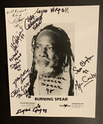 Burning Spear Autograph And Others King Of Reggae Music Best Of The Best.