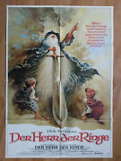 Lord Of The Rings - Rare German 1 Sheet Poster 1979 - Style A - Ralph Bakshi