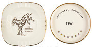 John F. Kennedy Two Jfk Ashtrays Owned By Personal Secretary Evelyn Lincoln