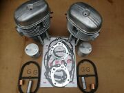 Ural 650 Engine Big Set - Cylinders + Heads+ Convex Pistons Rings Cover Gasket.