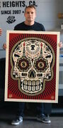 Power And Glory Skull Large Format Screen Print Obey Giant Shepard Fairey