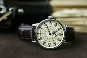 Watch Pobeda Russian Pilot Mechanical Leather Strap Menand039s Vintage Military