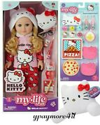 My Life As Hello Kitty 18 Poseable Doll Blonde Hair + Pillow+ Sleepover Set New