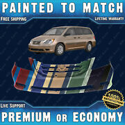 New Painted To Match Front Bumper Cover For 2008 2009 2010 Honda Odyssey Touring