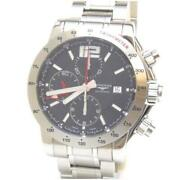 Longines Admiral Chrono Automatic Ss L3.670.4 Black Stainless Steel [e0923]