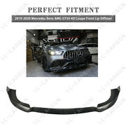 Dcf Front Lip Diffuser Kit For 2019-2020 Mercedes Benz Gt50 4d Coupe Brbs Style