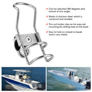 Fishing Rod Rack Stainless Steel Rail Mount Pole Bracket Clamp Boat Accessories