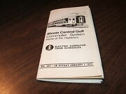 January 1974 Illinois Central Gulf Electric Commuter Public Timetables 426