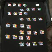 Fifa World Cup 1998 France Football Country And Trophy 32 Pin Batch Rare 0kk