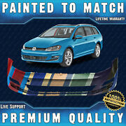 New Painted To Match - Front Bumper Cover Fascia For 2015-2017 Volkswagen Golf