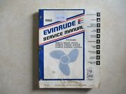 1980 Evinrude Service Manual For V-4 Models 5495 Used