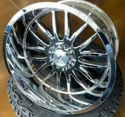 4 New 22x12 Axe Off Road Hades Chrome Wheels Chevy 8x170 Ford F250 F350