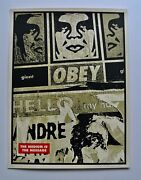 Hello Scuzz 2000  Signed/numbered Screen Print Obey Shepard Fairey
