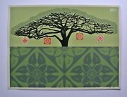 Monkey Pod - Green 2005 Signed/numbered Screen Print Obey Shepard Fairey
