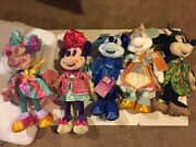 5 Disney Minnie Mouse Main Attraction Plush Small World -peterpan -mad Tea Party