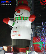 Lovely Giant Outdoor Christmas Inflatable Snowman For Christmas Decoration 8m U