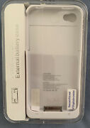 External Battery Case For Apple Iphone 4/4s White Mophie Style