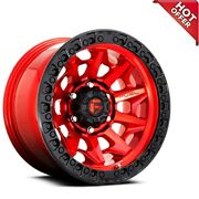 20x9 Fuel Wheels D695 Covert Candy Red W Black Ring Off Road Rimss41