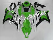 Fit For Zx10r 2011-2015 Green White Black Abs Injection Bodywork Fairing Kit