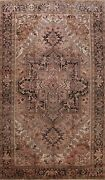 Antique Geometric Traditional Area Rug Wool Hand-knotted Oriental Carpet 10x13