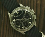 Universal Black Chronograph Menand039s Vintage Watch Manual Winding 1940and039s Cal 287