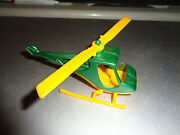 Old Vintage Antique 1976 Tootsie Toy Green Scorpion Helicopter