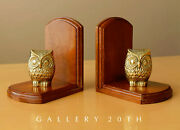 Cute And Rare Pair Baby Owl Brass Book Ends Mid Century Interior Decor Modern