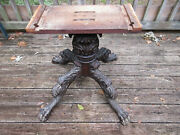 Antique French Carved Wood Table Base Heavy Hand-carved 25 High Legs Apart 26