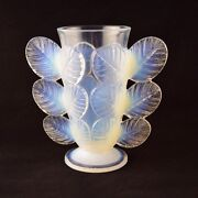 French Sevres Glass Rose Leaves Vase By Pierre Dand039avesn