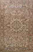 Antique Geometric Traditional Wool Area Rug Hand-knotted Oriental Carpet 10x12