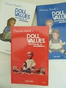 First 3 Editions Of Patricia Smith's Doll Values Antique To Modern Nice Cond.