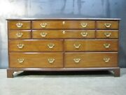 Immaculate Vintage Kittinger Solid Mahogany Chippendale Style 10 Drawer Dresser
