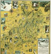 White Mountain National Forest Vintage Poster New Hampshire/maine