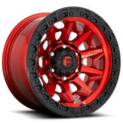 20x10 Fuel Wheels D695 Covert 6x139.70 Candy Red Black Ring Off Road -18 S42