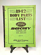 Vintage 1942 Ford Mercury Cars Commercial Trucks Body Parts Catalog