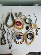 Large Joblot 20 Costume Jewellery Necklaces Bangles Braclets, Rings, Mixture,