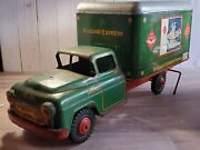 Vintage Marx Wyandotte Railway Express Train Delivery Truck Pressed Steel 1950and039s