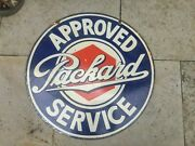 Porcelain Sign Packard Service Enamel Sign Size 24 Inches Double Sized